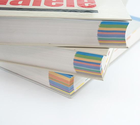 Katalog z registrami w wielu kolorach