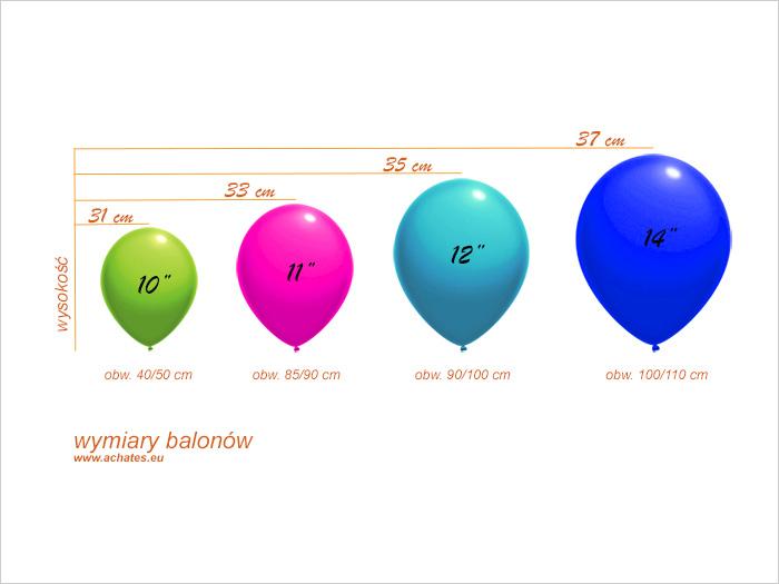 Rozmiary balonów reklamowych